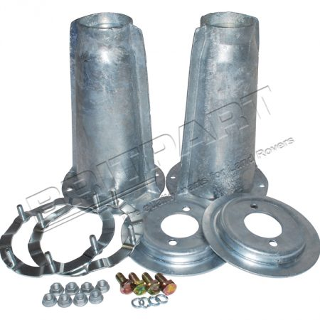 DA1186 Land Rover Defender Galvanized Front Turret Top Kit Spring Plates Rings