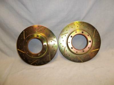 DA4601 SLOTTED CROSS DRILLED REAR BRAKE DISCS PAIR